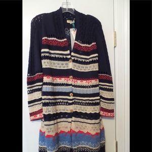 New w/ Tag IVKO Cotton/Linen Coat / Cardigan Sz S
